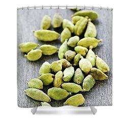 Cardamom Seed Pods Shower Curtain by Elena Elisseeva