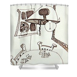 Cards Shower Curtain by Denny Casto