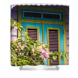 Caribbean Blue Shower Curtain by Rene Triay Photography