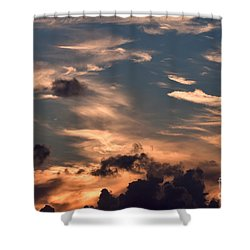Caribbean Sunset Near Norman Island Shower Curtain by Louise Heusinkveld