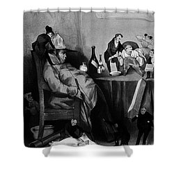 Caricature Of Hypochondriac, 1833 Shower Curtain by Science Source