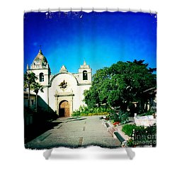 Shower Curtain featuring the photograph Carmel Mission by Nina Prommer