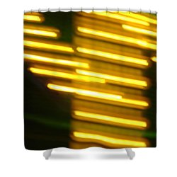 Carnival Blur Shower Curtain by Michelle Calkins