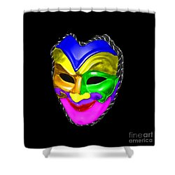 Shower Curtain featuring the photograph Carnival Mask by Blair Stuart