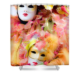 Shower Curtain featuring the photograph Carnival Mask by Luciano Mortula