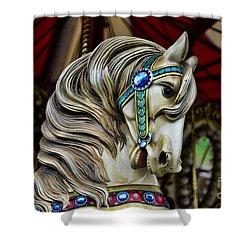 Carousel Horse 3 Shower Curtain by Paul Ward