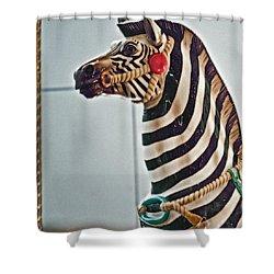 Carousel Zebra Shower Curtain by Bill Owen