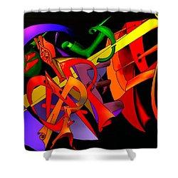 Carpe Diem IIi Shower Curtain by Helmut Rottler