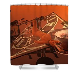 Carpecappuccino Shower Curtain by Helmut Rottler