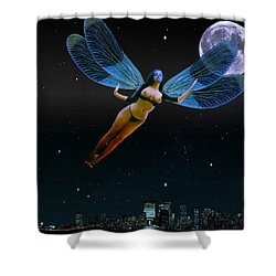 Carpenoctemny Shower Curtain by Helmut Rottler