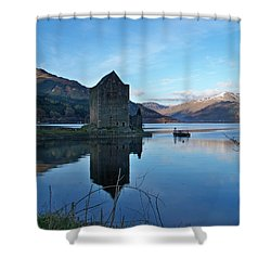 Shower Curtain featuring the photograph Carrick Castle by Lynn Bolt