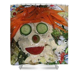 Carrot Top Shower Curtain by Kym Backland