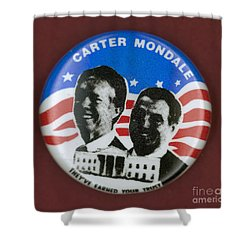 Carter Campaign Button Shower Curtain by Granger