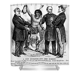 Cartoon: Native Americans, 1876 Shower Curtain by Granger