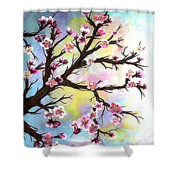 Carved In A Cherry Tree I I Shower Curtain by Barbara Griffin