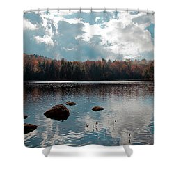 Cary Lake Shower Curtain by David Patterson