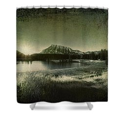 Cascade Pond Banff Shower Curtain