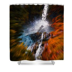 Cascade Waterfall Shower Curtain by Mick Anderson