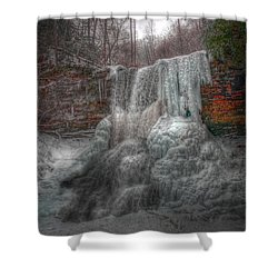 Cascades In Winter 3 Shower Curtain