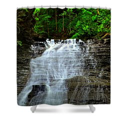 Cascading Falls Shower Curtain by Frozen in Time Fine Art Photography