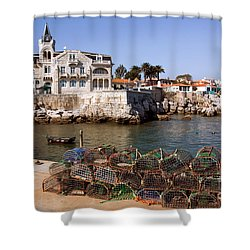 Cascais Bay Shower Curtain by Carlos Caetano