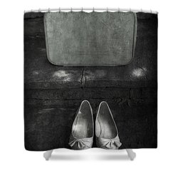 Case And Shoes Shower Curtain by Joana Kruse