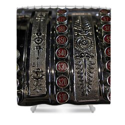 Shower Curtain featuring the photograph Cash Register by Nina Prommer