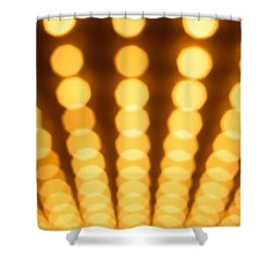 Casino Lights Out Of Focus Shower Curtain