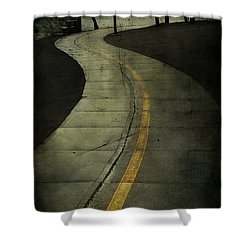Casledowns Road  Shower Curtain by Jerry Cordeiro