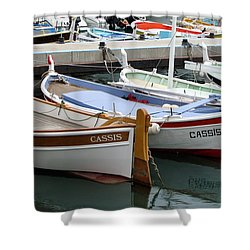 Shower Curtain featuring the photograph Cassis Harbor by Carla Parris
