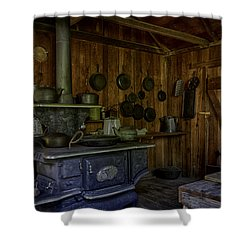 Cast Iron Wood Stove Shower Curtain by Lynn Palmer