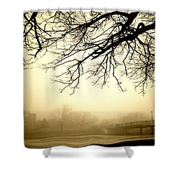 Castle In The Fog Shower Curtain