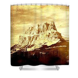 Castle Mountain Shower Curtain by Alyce Taylor