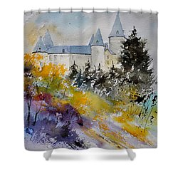 Castle Of Veves Belgium Shower Curtain by Pol Ledent