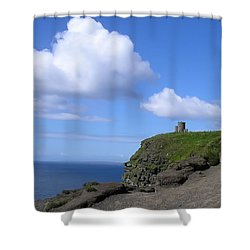 Castle On The Cliffs Of Moher Shower Curtain by Bill Cannon