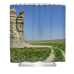 Castle Rock Shower Curtain by Alan Hutchins