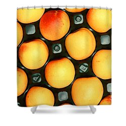 Castlebrite Apricot Shower Curtain by Photo Researchers