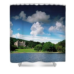 Castlewellan Castle & Lake, Co Down Shower Curtain by The Irish Image Collection
