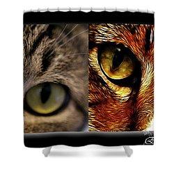Cat Eyes Shower Curtain by EricaMaxine  Price