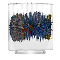 Cat Hair Ball Shower Curtain by Robert Margetts