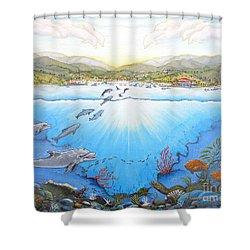 Catalina Island California Shower Curtain by Jerome Stumphauzer