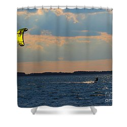 Catch The Wind Shower Curtain by Rrrose Pix