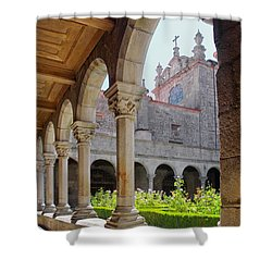 Cathedral Cloister Shower Curtain by Carlos Caetano