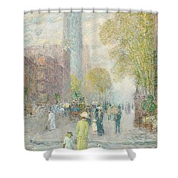 Cathedral Spires Shower Curtain by Childe Hassam