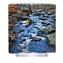 Catoctin Stream Shower Curtain by Stephen Younts
