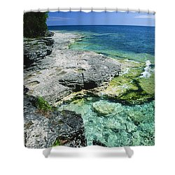 Cave Point Vista Shower Curtain