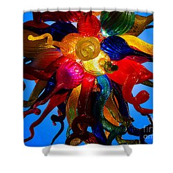 Celestial Glass 7 Shower Curtain by Xueling Zou