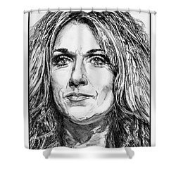 Celine Dion In 2008 Shower Curtain by J McCombie