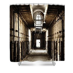 Cell Block Number 9 Shower Curtain by Bill Cannon