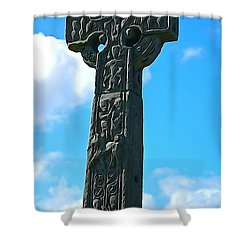 Shower Curtain featuring the photograph Celtic Cross by Charlie and Norma Brock